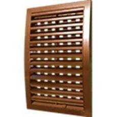 Решетка наружная ASA вентиляционная регулируемая 350х350, 3535РРПН коричневая