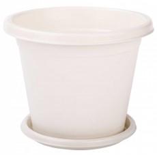 """Горшок цветочный """"Эконом"""" с поддоном 3 литра белый"""
