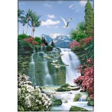 Декоративное панно Тропический рай 134х196 (4л)