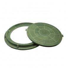 Люк полимерный малый, 15кН (зеленый)