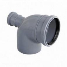Отвод канализационный фронтальный 110мм/50мм/87° выход сзади