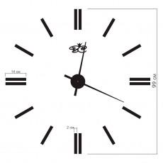 "Часы настенные ""Эра"" черные"
