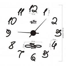 "Часы настенные ""Фристайл"" черные"