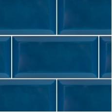 Плитка настенная Metrotiles Синий 10х20