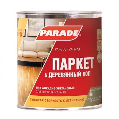 """Лак паркетный """"PARADE"""" L-10 алкидно-уретановый матовый 2,5 л"""