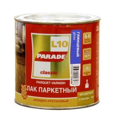 """Лак паркетный """"PARADE"""" L-10 алкидно-уретановый глянцевый 0,75 л"""