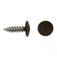 Саморез 4,2х16 (RAL8017) коричневый шоколад, полусфера-прессшайба, острый (30 шт)