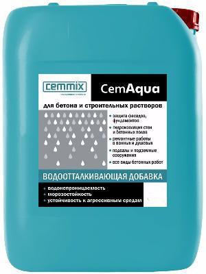 """Добавка в бетон и строительные смеси """"Водоотталкивающая CemAqua"""" 5л"""