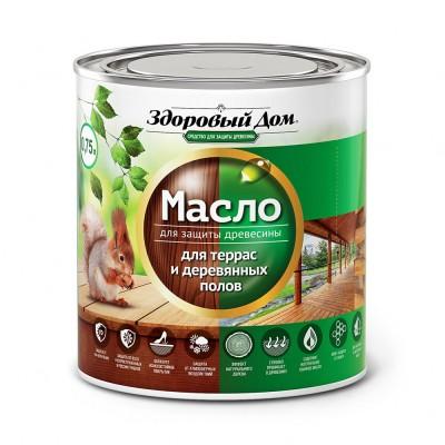 Масло для террас и деревянных полов дуб Здоровый Дом 0,75 л