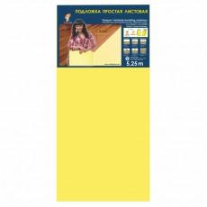 Подложка листовая под ламинат и паркетную доску Солид 1050х500х2 мм, желтая, упаковка 5,25 м2