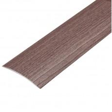 Порог В4-41мм алюминиевый  Орех №088 длина 0,9, скрытый крепеж