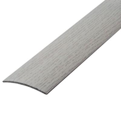 Порог А1-25 мм алюминиевый Дуб арктический № 105, 0,9 м
