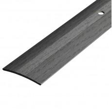 Порог А5-37мм алюминиевый Ольха серая №1022 длина 0,9м