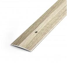 Порог А5-37мм алюминиевый декор цвет Дуб беленый №87 0,9 м