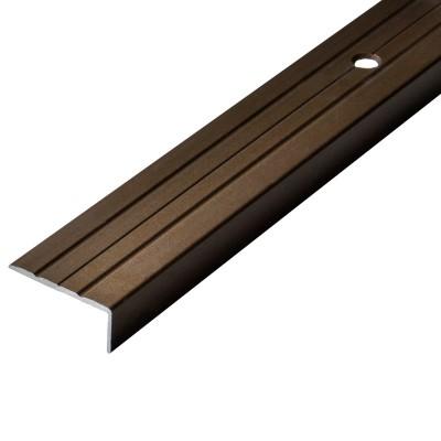 Порог-угол Д1 24х10мм алюминиевый анодированный бронза длина 0,9м