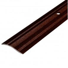 Порог С4 39,4мм алюминиевый р/ур. декор Венге №094 длина 0,9м