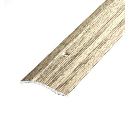 Порог А1- 25 мм алюминиевый  декор Дуб беленый №087 длина 0,9 м
