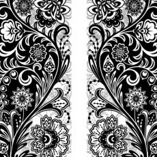 Фотообои Черно-белый орнамент DECOCODE 21-0469-AB (200х280см)