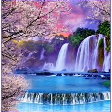 Декоративное панно Хрустальные водопады 196х201 (6л)