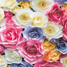 Фотообои Стена из роз DECOCODE 91-0454-FL (91х211см)