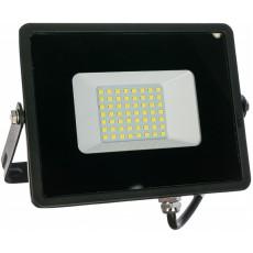Прожектор светодиодный 50W 2835 SMD 6400K IP65 AC220V/50Hz, черный , LL-921