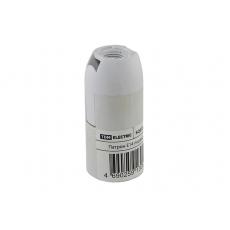 Патрон Е14 подвесной, термостойкий пластик, белый, TDM