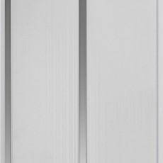 Панель ПВХ Кронопласт 2-х секционная серебро 3000х240х8 мм