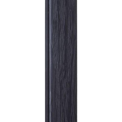 """Угол внутренний вспененный округлый 14х14 мм 2,7 м """"Идеал"""" Венге черный 302"""