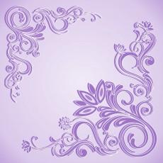 Плитка потолочная ламинированная Морозко 8 фиолетовая шелк