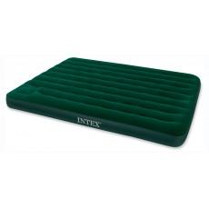 Кровать INTEX Downyфлок,152x203x22см,со встроенным насосом,зеленый