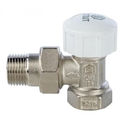Клапан термостатический, угловой 1/2 STOUT