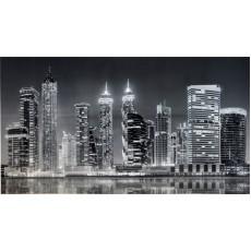 Панель ПВХ 3Д рельеф  Вечерний Дубай 602*1002*0,5 мм