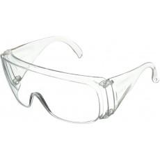 Очки защитные открытого типа, прозрачные ударопрочный поликарбонат, боковая и верхняя защита 89155
