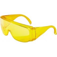 Очки защитные открытого типа, желтые ударопрочный поликарбонат 89157