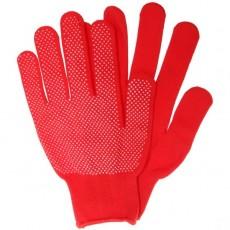Перчатки нейлоновые с ПВХ красные