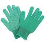 Перчатки нейлоновые с ПВХ зеленые