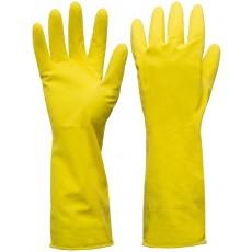 Перчатки универсальные резиновые с хлопковым напылением Выгода S 3 пары