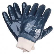 Перчатки нитрил, МБС-полное покрытие с манжетами