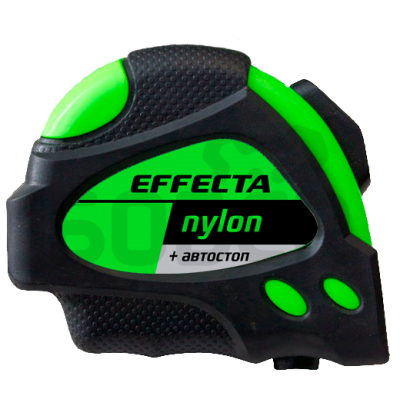 """Рулетка 7,5м*25мм """"EFFECTA"""" Nylon (автостоп, 2 магнита, боковые зацепы)"""