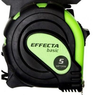 """Рулетка 5м*25мм """"Effecta"""" Basic (с магнитом, боковые зацепы)"""