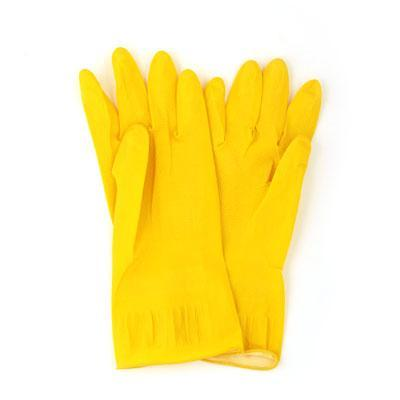 Перчатки резиновые желтые L, 447-006 VETTA