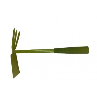 Мотыжка Комбинированная 3-х зубые грабли с лопаткой с металлическим черенком и пластиковой ручкой Урожайная сотка