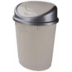 Контейнер для мусора овальный 8 литров (слоновая кость) М4166