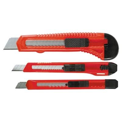 Набор ножей, выдвижные лезвия, 9-9-18 мм, 3 шт.// MATRIX 78985