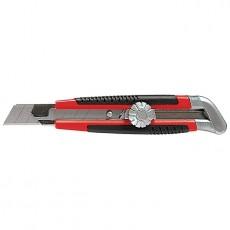Нож 18 мм выдвижное лезвие, металлическая направляющая Matrix 78914