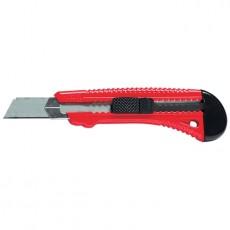 Нож с выдвижным лезвием,18мм, металлическая направляющая Matrix 78918