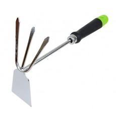 Рыхлитель 3-х зубый с металлическим черенком и пласт ручкой Урожайная сотка Экстра 40221