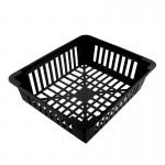 Корзина для луковичных черная квадратная 24,5*х29,5 см, h7 см, пластиковая
