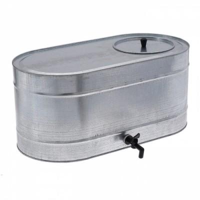 Бак оцинкованный, с краном, овальный (Магнитогорск) 75 литров