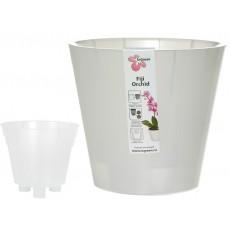 Горшок для цветов Фиджи Орхид D 230 мм 5 л белый перламутр